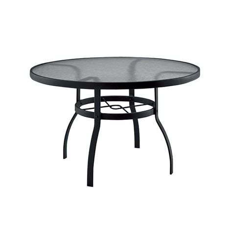 woodard deluxe 48 inch glass dining table