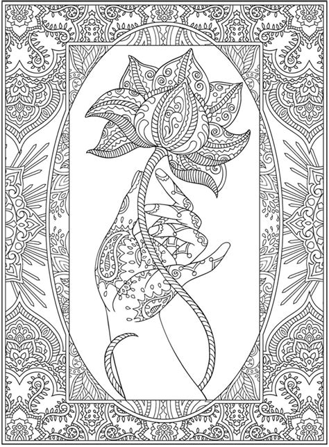 Dragonfly Treasure: Creative Haven Mehndi Designs Coloring