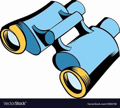 Binoculars Cartoon Icon Vector Binocular Royalty