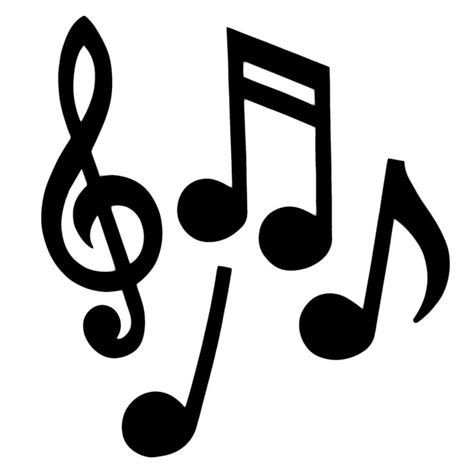 musical notes silhouette choir banquet pinterest