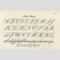 Cursive Fonts From Draughtsman's Alphabets By Hermann … Flickr