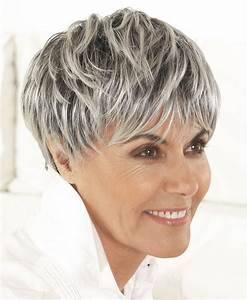 Coupe Cheveux Gris Femme 60 Ans : coiffure femme 60 ans cheveux gris ma coupe de cheveux ~ Voncanada.com Idées de Décoration