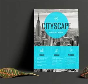 Single Page Brochure Template Simple Blue Transparent Real Estate Flyer Idea Venngage