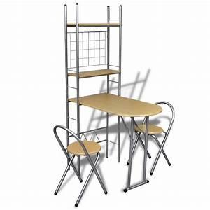 Bistrotisch Mit 2 Stühlen : der fr hst ckstisch einklappbarer k chentisch mit 2 ~ Michelbontemps.com Haus und Dekorationen