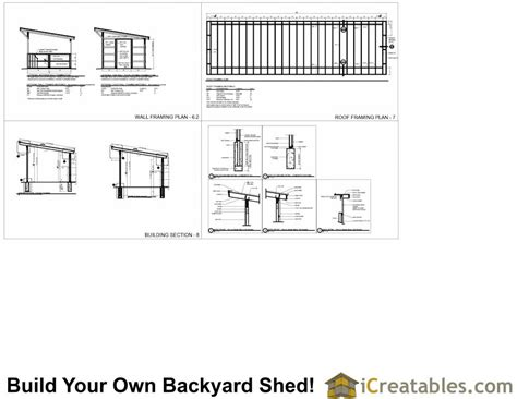 12x48 run in shed plans