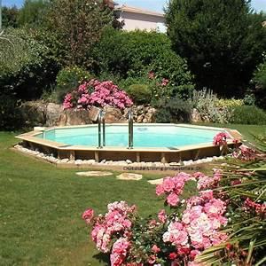 piscine hors sol bois octogonale d580xh130cm ocea liner With liner piscine hors sol octogonale bois 2 piscine hors sol bois ubbink fsc octogonale allongee ocea
