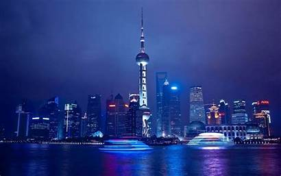 Achtergronden Bureaublad Nacht Hong Kong Bij China