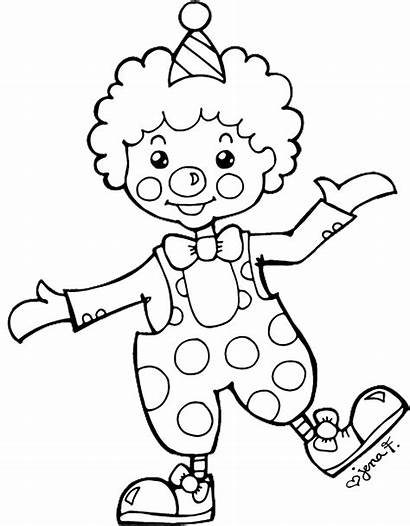 Clown Clipart Happy Clip Drawing Circus Outline