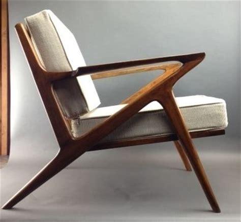 mid century modern style teak lounge chair selig