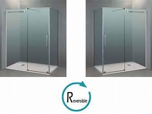 Cabine Douche 3 Parois Vitrées : paroi de douche longueur 140 cabine de douche 140 x 80 ~ Premium-room.com Idées de Décoration