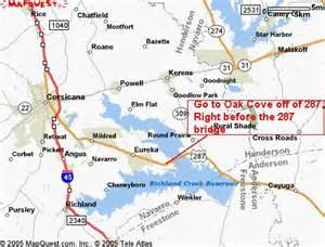Richland Chambers Lake Texas Map