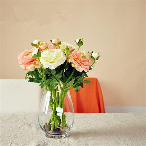 2 Flower Head European Silk Flowers 1pcs Bouquet