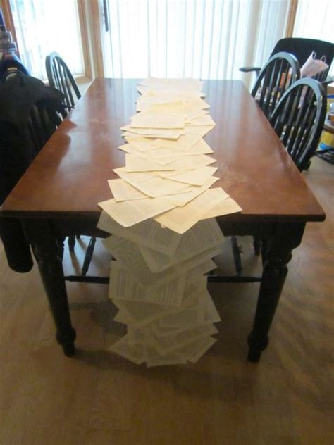 book page table runner wedding book diy inspiration