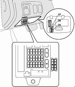 Mitsubishi Eclipse 4g  2006 - 2012   U2013 Fuse Box Diagram