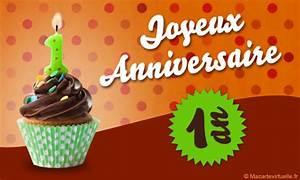 1 An Anniversaire : envoyez une e card anniversaire 1 an ~ Farleysfitness.com Idées de Décoration