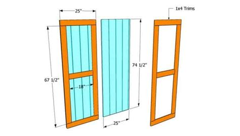 How To Frame A Barn Door by 31 Ideas And Free Plans On How To Build A Shed Door