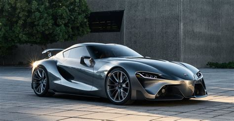 toyota ft  concept car sports  grey exterior classier