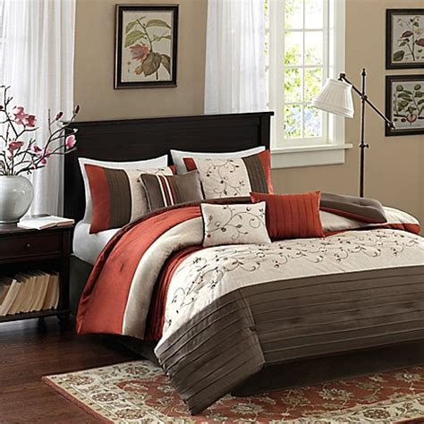 madison park serene 7 piece comforter set buy park serene 7 california king comforter set in spice from bed bath beyond
