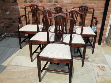 set 6 six antique mahogany dining chairs antiques atlas