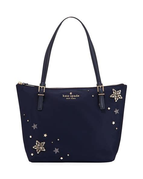 kate spade  york maya small nylon stars embellished tote bag neiman marcus