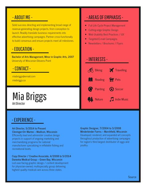 Resume Creator Creative by 12 Creative Resume Exles Templates Ideas Daily
