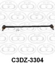 ford center link drag link c3dz 3304 cg ford parts With 1941 ford drag link