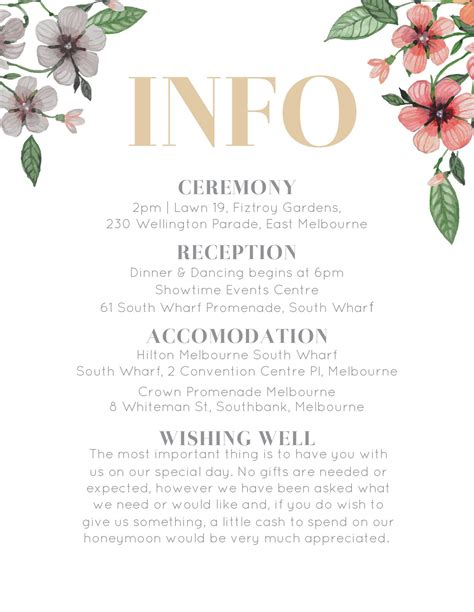 Floral Circle Invitation Set Info & Directions in 2020