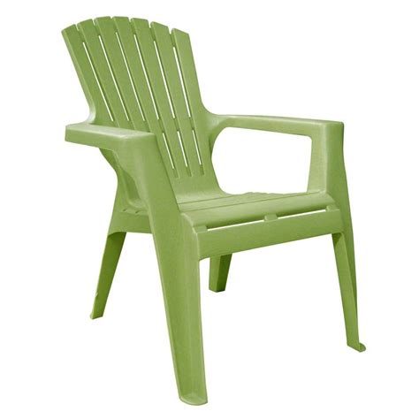 shop mfg corp green resin stackable patio adirondack