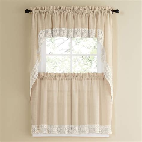 country style l shades french vanilla country style curtain parts with white