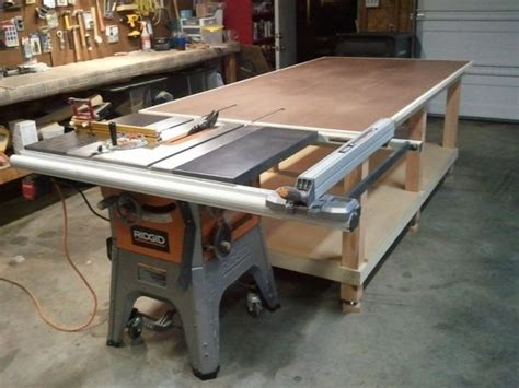 rolling work bench outfeedjpg woodworking