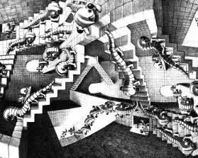 Maurits Cornelis Escher Escalier by Dessins De Escher