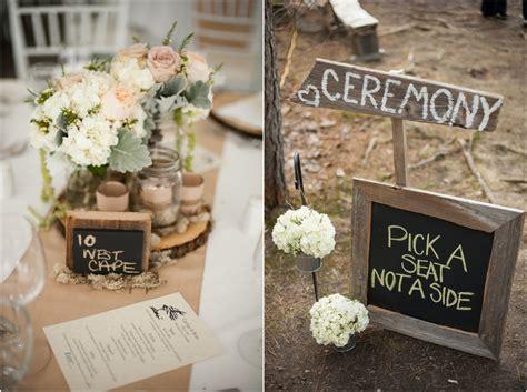 Ecofriendly Woodsy Rustic Wedding  Rustic Wedding Chic