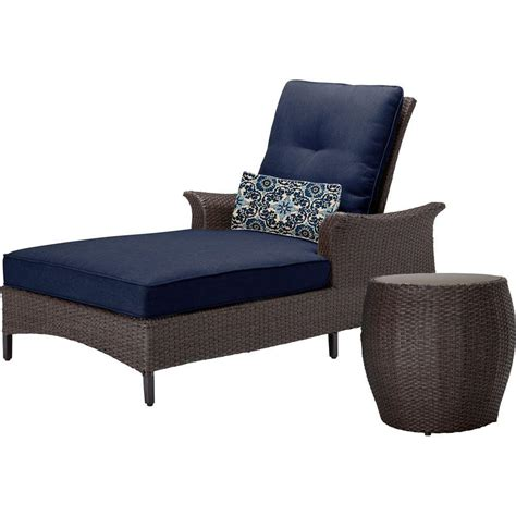 chaise navy hanover gramercy 2 all weather wicker patio chaise