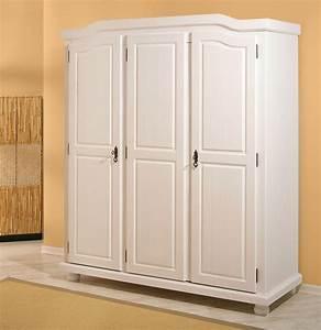 Kleiderschrank Buche Massiv 3 Türig : gro er kleiderschrank kiefer massiv wei 3 t rig ebay ~ Bigdaddyawards.com Haus und Dekorationen
