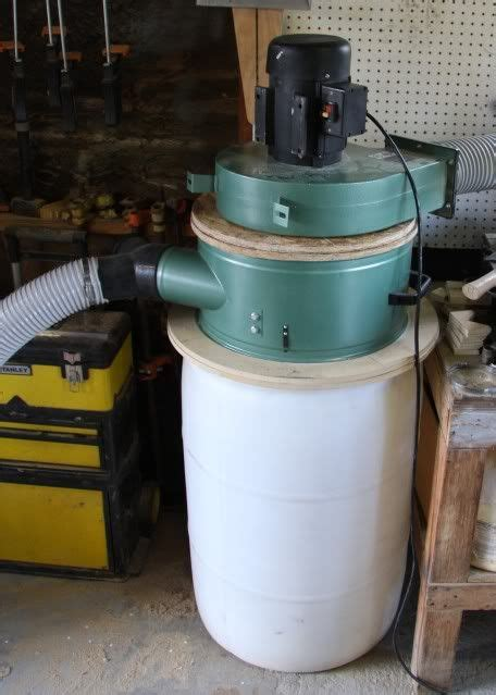 modified harbor freight dust collector woodshop shop