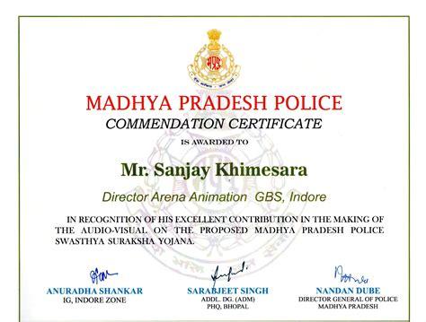 arena geeta bhawan  commendation certificates
