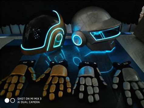 Customized Band Daft Punk Cosplay Mask&Gloves Helmet ...