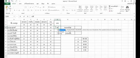 How To Make Cv For Exle by สอนการใช ส ตรคำนวณ Microsoft Excel เบ องต น