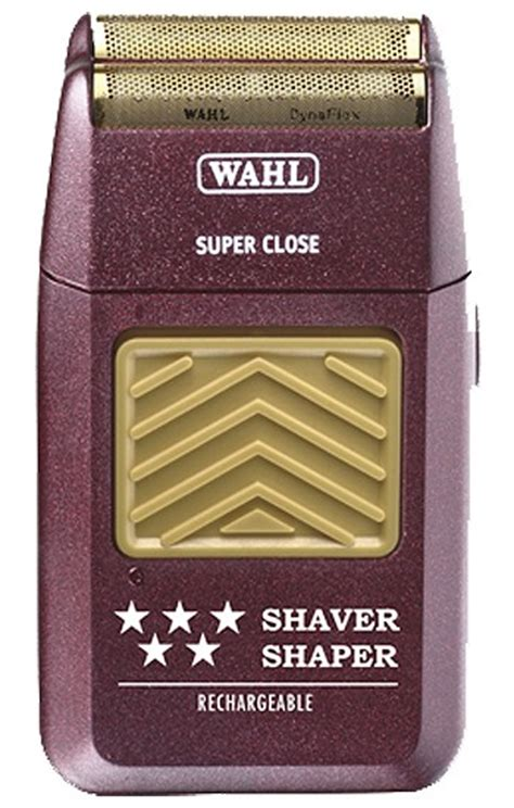 wahl star rechargeable hypoallergenic gold foil bump shaver
