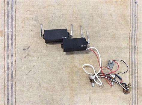 Used Emg Active Bass Guitar Pickups Wiring Harness