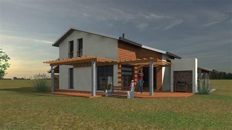 maison design en bois architecture maison bois pyr 233 n 233 es bois maisons ossature bois 64
