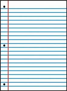Free Printable Notebook Paper College  U0026 Wide Ruled Inside