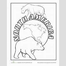 North America  Worksheet Educationcom
