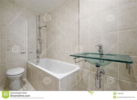 bathroom with floor to ceiling tiles stock image image
