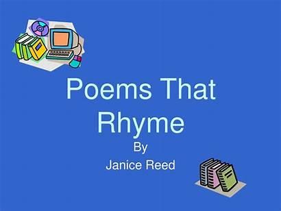 Rhyme Poems Ppt Powerpoint Presentation Skip
