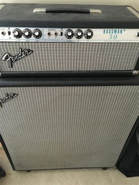 1975 fender bassman 50 with matching 2x15 cabinet reverb