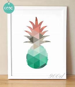 Aliexpress com : Buy Cartoon Geometric Pineapple Canvas