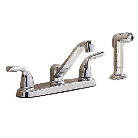 kitchen faucets lowes shop aquasource chrome 2 handle low arc kitchen faucet