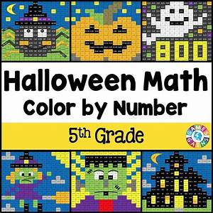 Halloween Math Color-by-Number - 5th Grade – Games 4 Gains