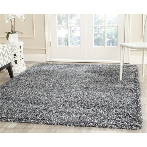 safavieh furniture nyc shop safavieh new york shag blue grey rug 5 3 quot x 7 6